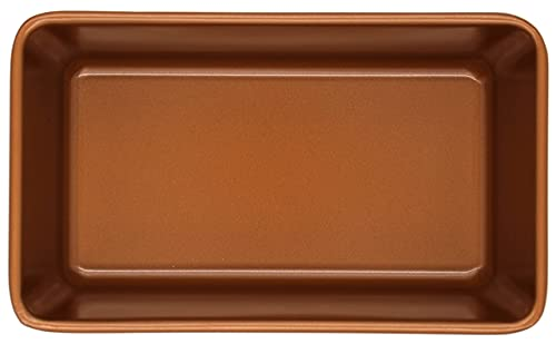 Chef Select Premium Loaf Pan, 9-Inch, Large Size, Steel, Copper Color, Non-Stick, Rolled Lip   Baking Pound Cake, Raisin Bread, Meatloaf, Candle Base, Centerpiece