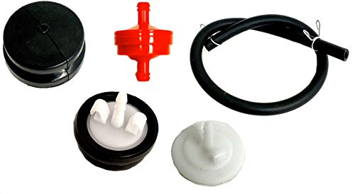 44-2750 Primer Body 4 Piece Lawn Mower Carburetor Set Replacement 66-7460 Primer Bulb Compatible with Toro and Lawnboy 120-440 Primer Bulbs with Hose 298090 150 um Fuel Filter for Briggs Stratton
