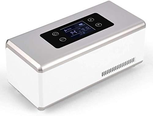 Draagbare mini-koelbox auto kleine koelkast met vriesvak huishouden geen batterij, sluit alleen aan de macht of de sigarettenaansteker aan 21 * 9.4 * 9.1CM/8 * 4 * 3.6INCH zilver