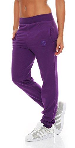 Gennadi Hoppe Damen Jogginghose Trainingshose Sweat Pants Sporthose Fitness Hose,lila,Large