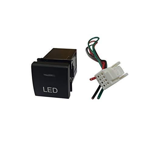 Lanrui Botón de Interruptor LED de Coche, para Toyota Camry Corolla RAV4 2018 2019 2020 (Color : LED Button)