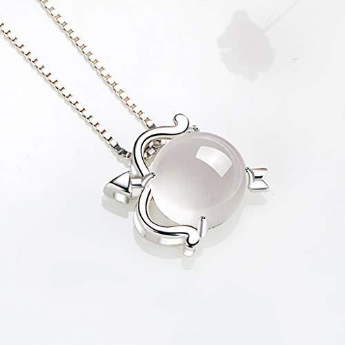 HONGFEI-SHOP Collares Regalo de cumpleaños Collar Sagitario Collar de Plata 925 for Las Mujeres de la constelación del Zodiaco 12 Horóscopo Astrología Colgante Abuela