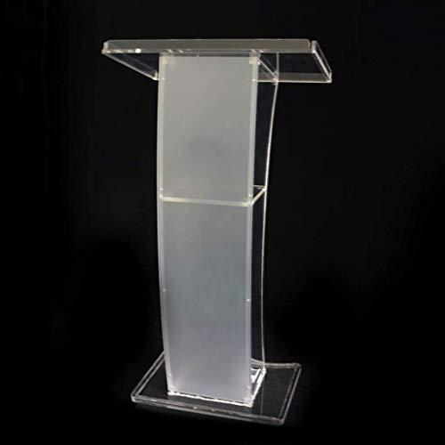 Alqn Klares Präsentations-Rednerpult - Elegantes Plexiglas-Design für Kirche und Schulen Stehender Informationsschalter für Leseschreibtische,Ohne Lichter