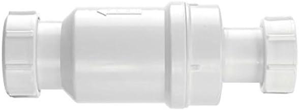 McAlpine MACVALVE-1 Zelfsluitende Afvalklep Val - 1,2 cm, Wit, 1,25-Inch