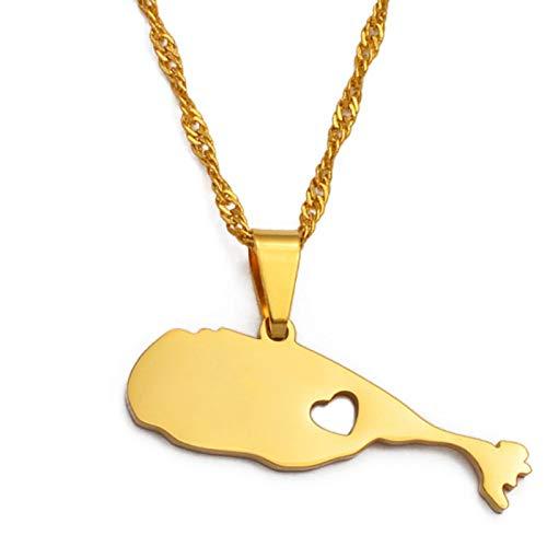 Ucjhxfr Collar con colgante de la Federación de San Cristóbal y Nevis (030621-031121)