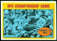 1972 Topps Regular (Football) card#138 NFC Championship Cowboys vs 49er's of the - Undefined - Grade Very Good