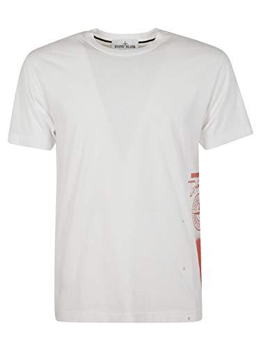 Luxury Fashion | Stone Island Heren 72152NS83V0001 Wit Katoen T-shirts | Lente-zomer 20