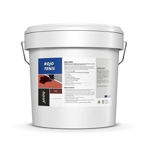 PINTURA PISTAS DEPORTIVAS, pavimentos deportivos en general. Protege y decora las superficies de hormigón, cemento y asfalto (5 Kilos, Rojo Tenis)