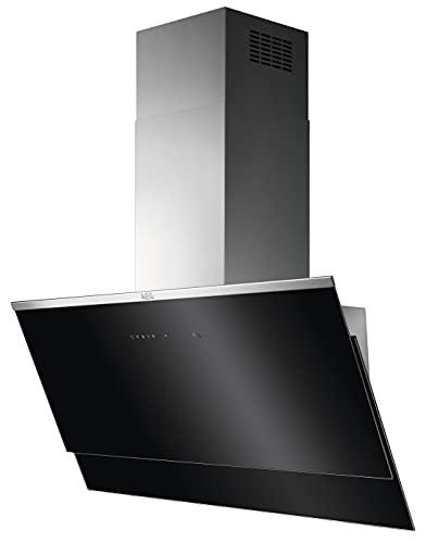 AEG DVS597AHG Kopffreie Wand-Dunstabzugshaube / Abluft oder Umluft / 90cm / Schwarz/Edelstahl / Hob²Hood / SilenceTech / max. 310 m³/h / min. 65 – max. 73 dB(A) / A / Schwarz/Edelstahl