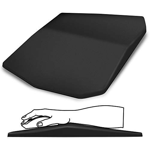 """SOUNDANCE Ergonomic Mouse Pad with Wrist Support Gel,Mousepad Wrist Rest Thick,Relief Carpal Tunnel Pain,Entire Memory Foam with Non-Slip PU Base for Computer,Laptop,Desktop,Home,Office, 14 x 8""""Black"""