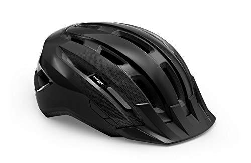 Met Active Downtown Allround - Casco de ciclismo (talla L), color negro
