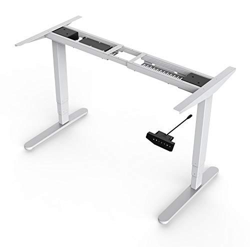 Better Home Office Line - elektrisch höhenverstellbares Tischgestell, Bürotisch Schreibtisch stufenlose Höhe, 3 x Memory Funktion mit Dual Motor max Höhe: 125 cm belastbar bis 125 kg