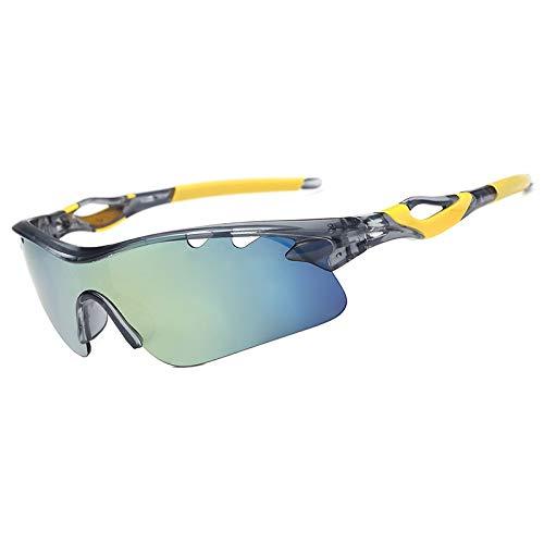 JFSZZ Lentes Gafas de Sol Gafas de Montar a Caballo al Aire Libre Ciclismo Pesca Gafas de Sol UV400 (Color : 004)