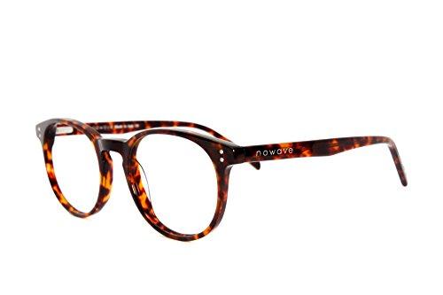 NOWAVE Occhiali neutri per PC, Tablet, TV. Eliminano stanchezza e irritazione visiva. Montatura super leggera alla moda. Occhiali riposanti ANTI LUCE BLU40% e UV 100%. Tartarugato   Clark
