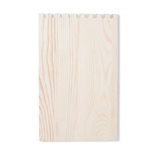 OhhGo Soporte de exhibición de la joyería del tablón de madera de escritorio 9 ranuras collar joyería exhibición titular para la joyería colgante
