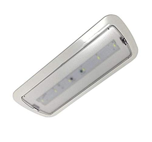Luz de Emergencia LED empotrable o superficie 3W, 200 lumenes, 3 Horas de Autonomía. Color Blanco Frío (6500K).