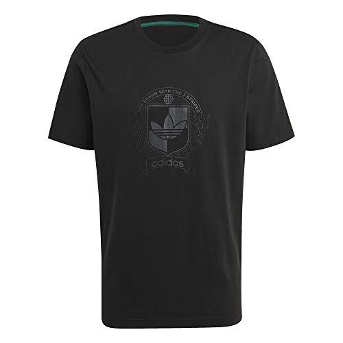 adidas H31176 C Crest tee T-Shirt Mens Black S