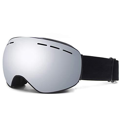 TAOXUE Skibrille, Magnetische rahmenlose 100{5c9c35a83fbc70926cbbce055d60e282ccf259055893b20763cef4101bb516f9} UV-Anti-Fog-Anti-Rutsch-Wechselglas-Schneebrille für Kinder Motorschlittenfahren, Skifahren oder Skaten,A