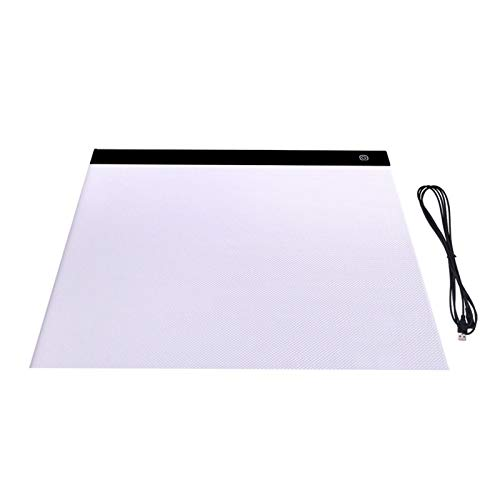 CMDZSW Digital A3 Drawing Board LED Light Box Tracing Paper Copy Board Graphic Tablet Art Painting Pittura Scrittura Board Sketch Animazione (Color : A3 3 Level Dimming)