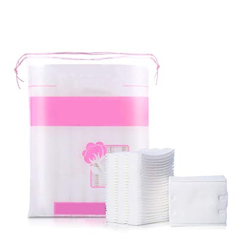 Coton Nettoyant Portable Tampon en coton Double face, maquillage, double effet, hydratant, nettoyant, dissolvant pour sacs en coton, coton Doux Confortable (Color : White)