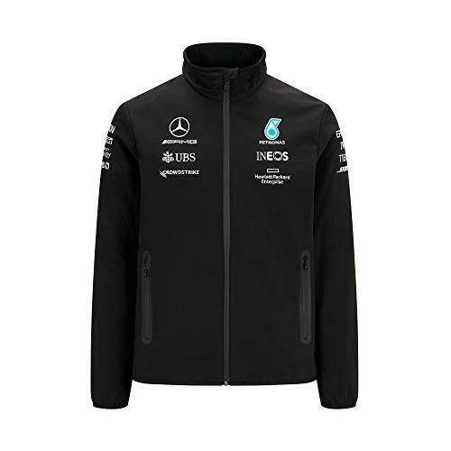 Mercedes Benz AMG Petronas F1 Herren 2021 Team Softshell Jacke - Schwarz - XX-Large