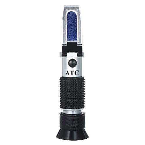 Amiispe Refraktometer Brix Zucker zuckergehalt messgerät für Bierwürze, Traubenmost, und Konzentrationen Test Refraktometer Wein Tester Meter Messen Instrument
