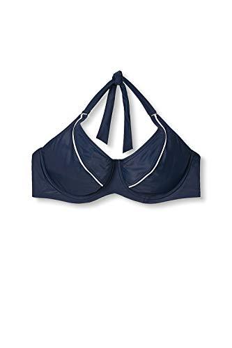 ESPRIT Bodywear Damen Estero Beach BC Underwire solid Bikinioberteil, 400/NAVY, 44D