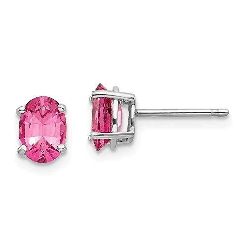 14ct Weißgold Spinell JewelryWeb Ohrringe, Pink