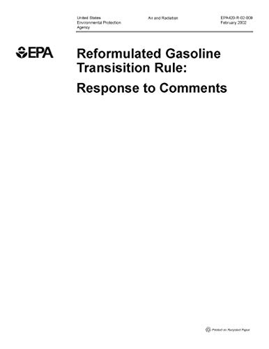 Reformulated Gasoline Transition Rule: Response to Comments (English Edition)