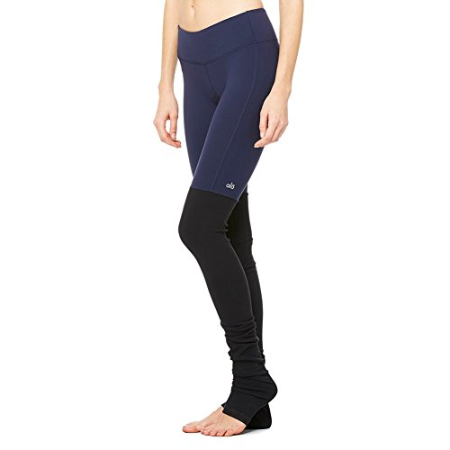 Alo Yoga Women's Goddess Legging, Rich Navy/Black, S