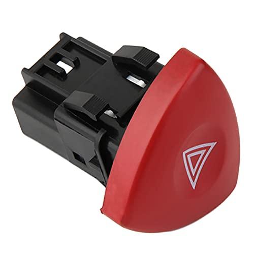 FineBoing Interruptor de luz de advertencia botón rojo 8200442724 para Espace MK4 Laguna MK2 Trafic Vauxhall Vivaro