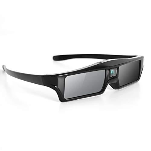 kdjsic 3D-Brille Wiederaufladbare Brille mit aktivem Verschluss für DLP-Link Optama Acer BenQ ViewSonic Scharfe Projektorbrillen