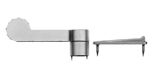 GAH-Alberts 903664 Vorreiber mit Streichblech und Distanzstück, Zinkdruckguss, Distanzstück: Ø10 mm, Länge Vorreiber: 60 mm / 2 Stück