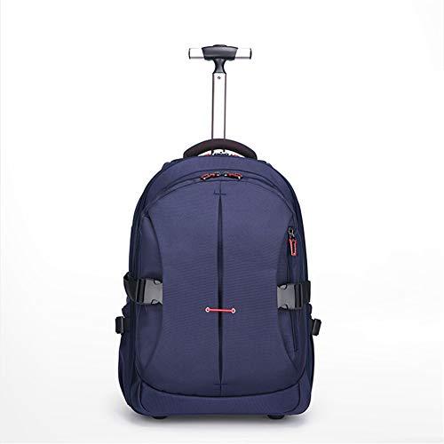 LYHLYH reistrolley laptop rugzak zak zak trolley rugzak Carry-ons Water Resistant Boarding rugzak 2 wielen voor 15,6 inch laptop