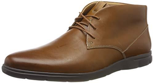 Clarks Herren Vennor Mid Klassische Stiefel Kurzschaft Stiefel, Braun (Tan Leather), 46 EU