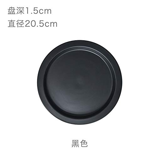 YUWANW Macaron Color Ceramic Cups and Breakfast Plates A Day with The Money Western Inventory Heart Cup, Carbon Black Dish