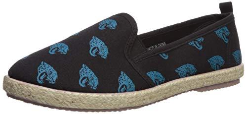 FOCO Jacksonville Jaguars Espadrille Canvas Shoe - Womens Large
