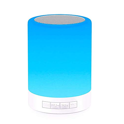 Bluetooth Speakers with Lights, Parkli Touch Bedside Lamp Dimmable Color Night Light, Outdoor Table Lamp with Smart Touch Control, Best Gift for Men Women Kids Bedroom Sleeping Aid