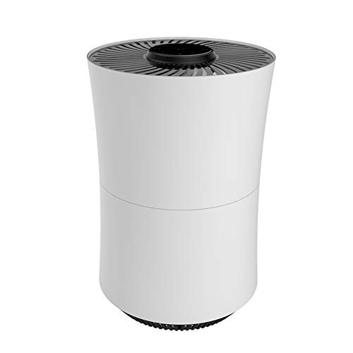 Lowest Price! H&1 Desktop Air Purifier for Home, Negative Ion Freshener, with Touch Panel, Smart Air Ring and Silent Design, for Dust Hair, Pollen, White