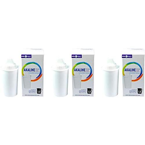 New Wave Enviro Alkaline Water Filter Replacement Cartridge - 3 Pack