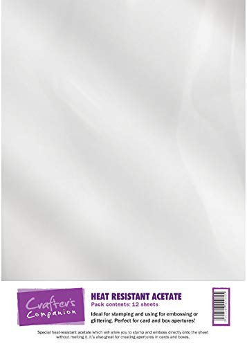Crafter's Companion CC-ACETHR12 Acetato de Resistencia Al Calor 12 Hojas, Transparent, A4