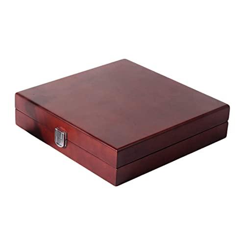 Cajas de joyería Organizador de caja de joyería de madera para niñas y mujeres Estuche de almacenamiento retro de gran capacidad para collar, pendientes, anillos, pulsera y accesorios, caja de regalo