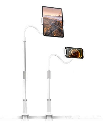 Tryone Schwanenhals Tablet Halterung, Tablet Halter - Verstellbare Arm Tablet Ständer für iPad Air, Neu iPad Pro, Mini, iPhone, E-Reader und weitere 4 bis 11 Zoll Geräte