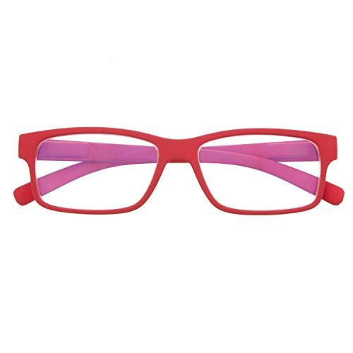 Gafas con Filtro Anti Luz Azul para Ordenador. Gafas de Presbicia o Lectura para Hombre y Mujer. Tacto Goma, Patillas Flexibles y Cristales Anti-reflejantes. Ferrari +1.0 – THYSSEN