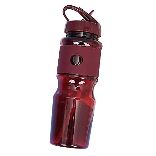 Mabor Botella de agua deportiva, botella de agua de 720 ml con botellas de agua de pajita con tapa a prueba de fugas, sin BPA, botella de plástico para deportes, para ciclismo, camping u oficina