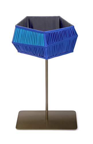 Lámpara de mesa con pies, color azul