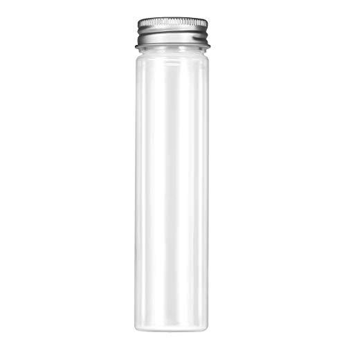 ukcoco 15pcs tubos transparentes de fondo plano de plástico con tapones a tornillo recipientes cosméticos para lociones de viaje Candy 110ml