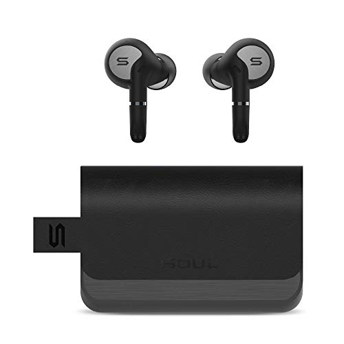 Soul Sync Pro - Superior True Wireless Earbuds, in Ear Headphones with Bluetooth, Dual Microphones - (Jet Black)