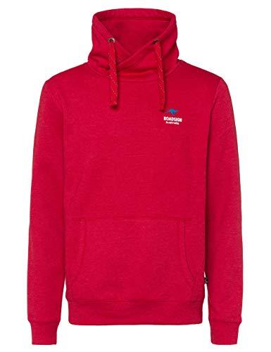 ROADSIGN Australia Sweatpullover mit Stehkragen im Hoodie-Stil, große Eingrifftasche, rot/L