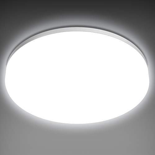 NIXIUKOL Deckenlampe 18W LED Deckenleuchte 4500K Neutralweiß, IP54 Wasserfest Badlampe Wohnzimmerlampe Schlafzimmerlampe 1800LM ideal für Badezimmer Balkon Flur Küche, Ø22cm